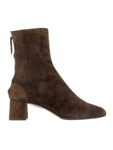 Aquazzura - Saint Honoré 50 suede ankle boots in brown