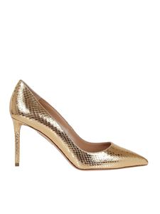 Aquazzura - Purist laminated pumps in gold color