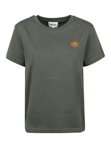 Kenzo - Tiger patch T-shirt in green