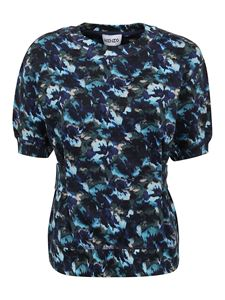 Kenzo - Puffed sleeves cotton T-shirt in blue