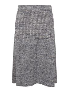 Kenzo - Mouliné cotton blend skirt in grey
