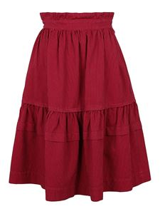 Kenzo - Striped cotton skirt in red