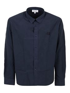 Kenzo - Tiger embroidery cotton shirt in blue