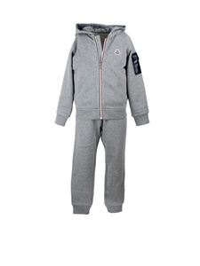 Moncler Jr - Hooded tracksuit in grey