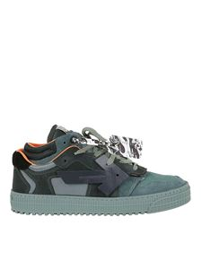 Off-White - Sneakers Off Court in suede e tessuto verde
