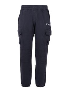 Off-White - Joggers cargo in cotone blu