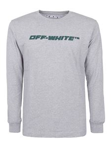 Off-White - Trellis Worker long sleeve T-shirt in grey