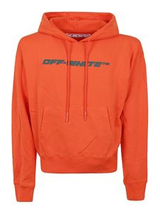 Off-White - Trellis Worker cotton hoodie in orange