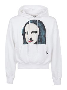 Off-White - Monalisa cotton hoodie in white