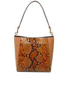 Tory Burch - Mcgraw Exotic Hobo bag in Caramel color