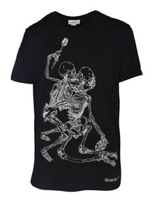 Alexander McQueen - Lovers Skeleton T-Shirt in black