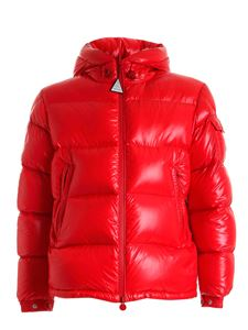 Moncler - Ecrins red down jacket featuring hood