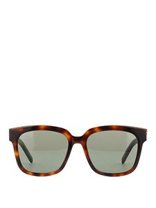 Saint Laurent - Squared acetate sunglasses in brown