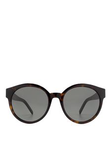 Saint Laurent - SLM31 round acetate sunglasses in brown