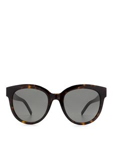 Saint Laurent - SLM29 round acetate sunglasses in brown