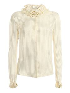 Saint Laurent - Pierrot collar silk shirt in cream color
