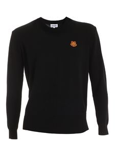 Kenzo - Tiger Crest patch pullover in black