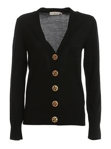 Tory Burch - Simone merino wool cardigan in black