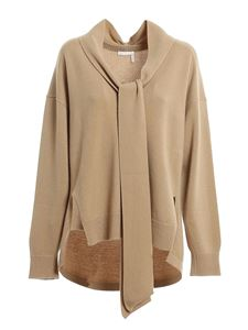 Chloé - Maglione scollo a V color Dune Brown