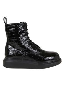 Alexander McQueen - Hybrid ankle boots in black