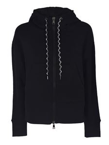 Moncler - Sweatshirt in black with maxi patch logo