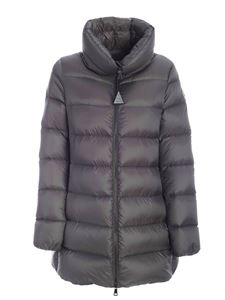 Moncler - Anges down jacket in grey featuring high collar