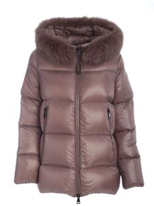 Moncler - Dove Serifur down jacket featuring fox hood