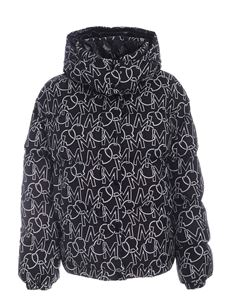 Moncler - Daos down jacket in black featuring all-over logo