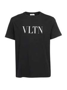 Valentino - VLTN cotton T-shirt in black