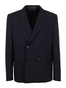 Valentino - Virgin wool double-breasted jacket in blue