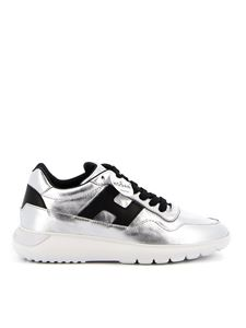 Hogan - Interactive³ leather sneakers in silver color