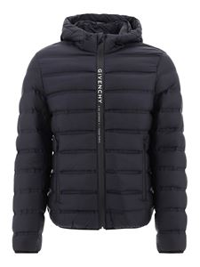 Givenchy - Logo band quilted padded jacket in black