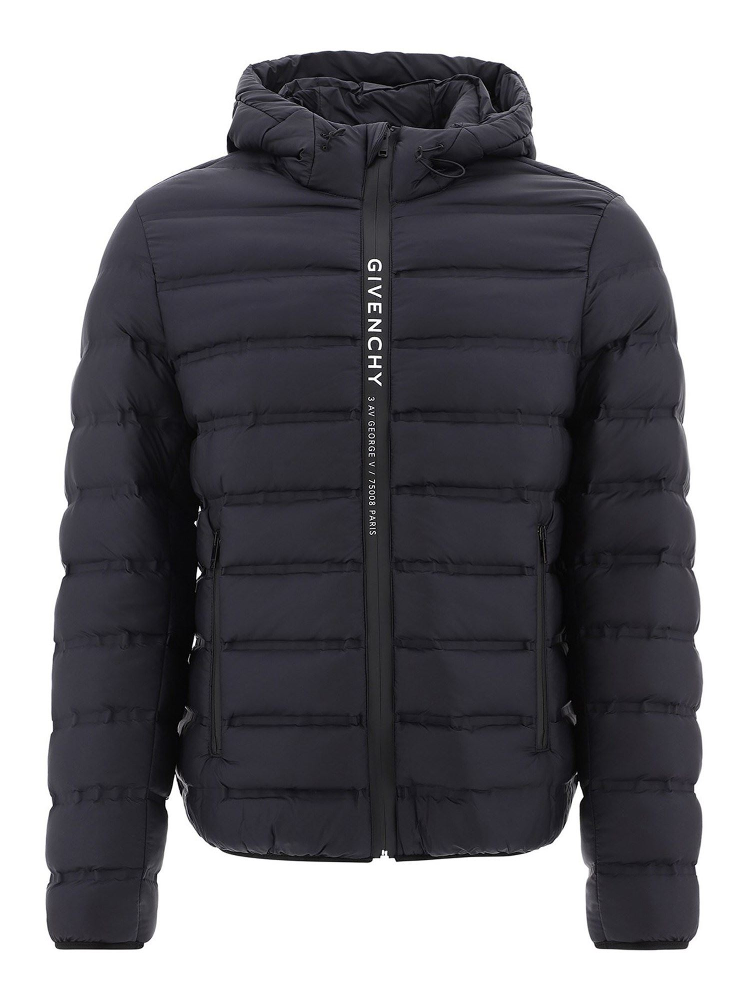 Givenchy Over coats LOGO BAND QUILTED PADDED JACKET IN BLACK