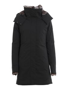 Save the duck - Arctic eco-friendly down jacket in black