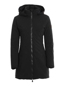 Save the duck - Rainy long down jacket in black