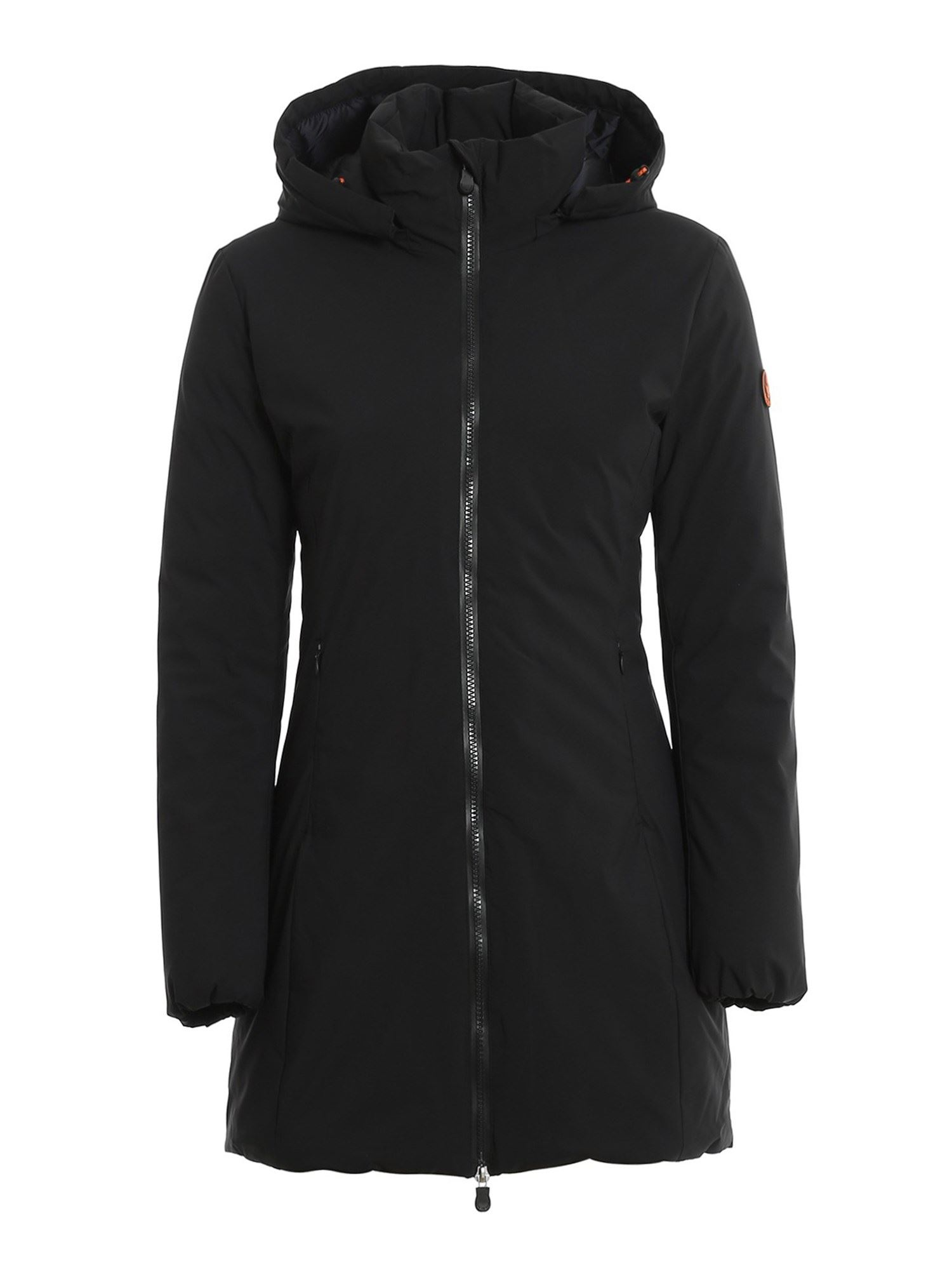 Save The Duck RAINY LONG DOWN JACKET IN BLACK