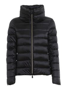 Save the duck - High neck nylon jacket in black