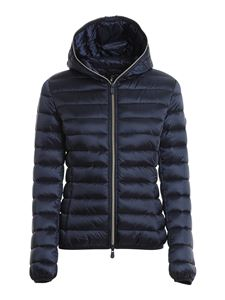 Save the duck - Iris nylon hooded down jacket in blue