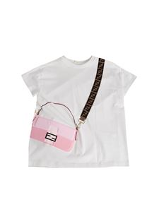 Fendi Jr - T-shirt in white with print