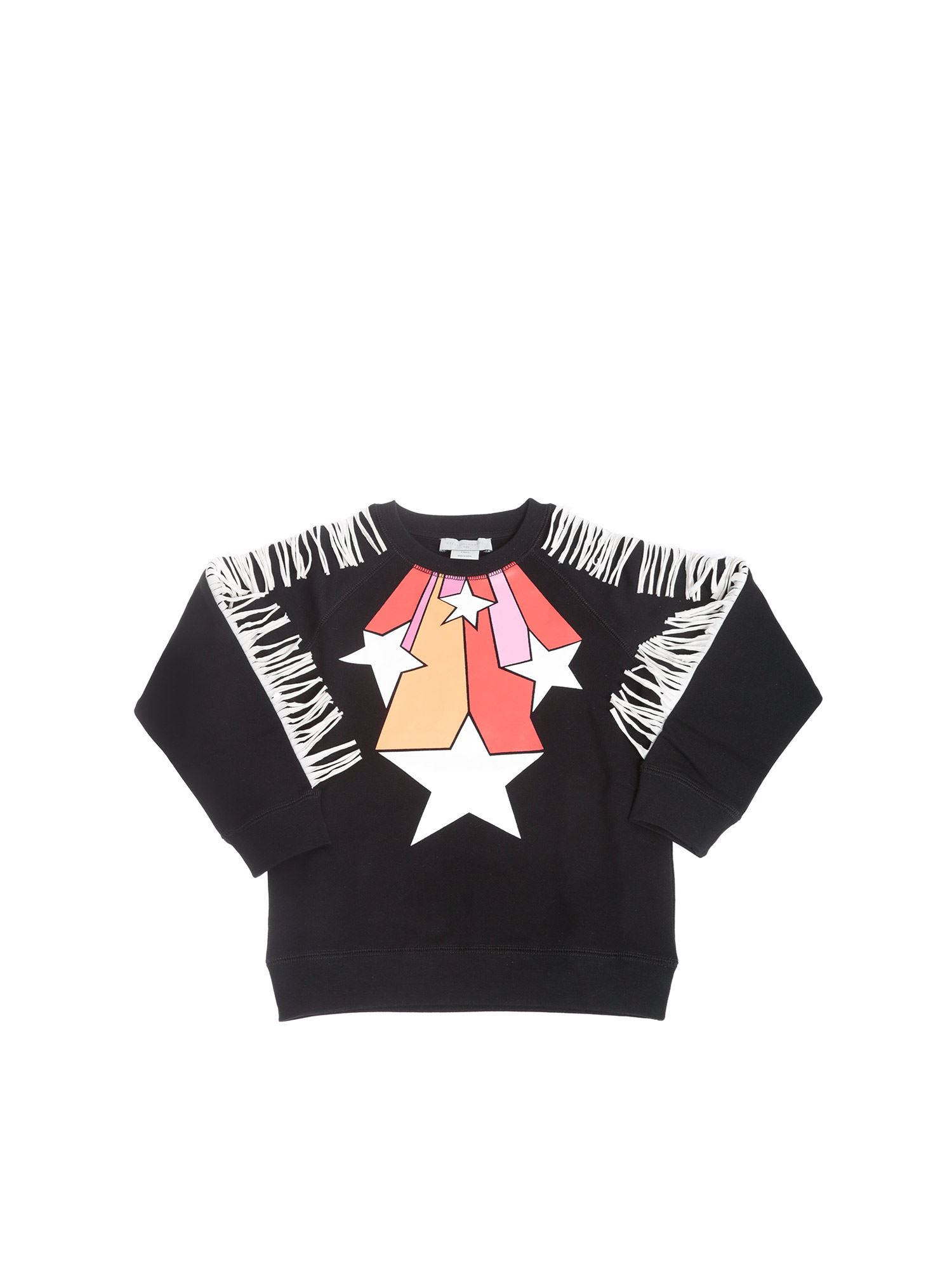 Stella Mccartney BLACK STARS NECKLACE SWEATSHIRT