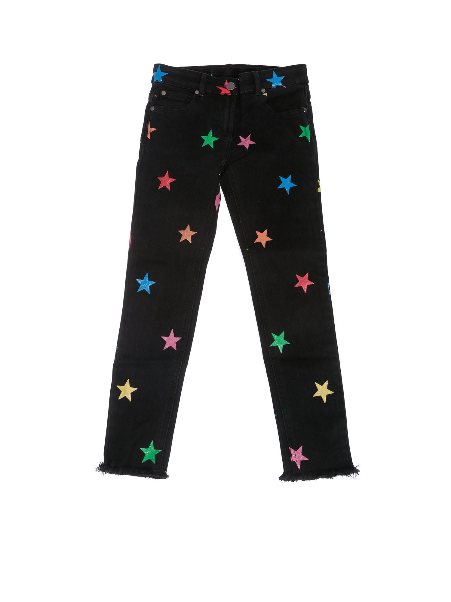 Stella Mccartney BLACK GLITTER STARS DENIM