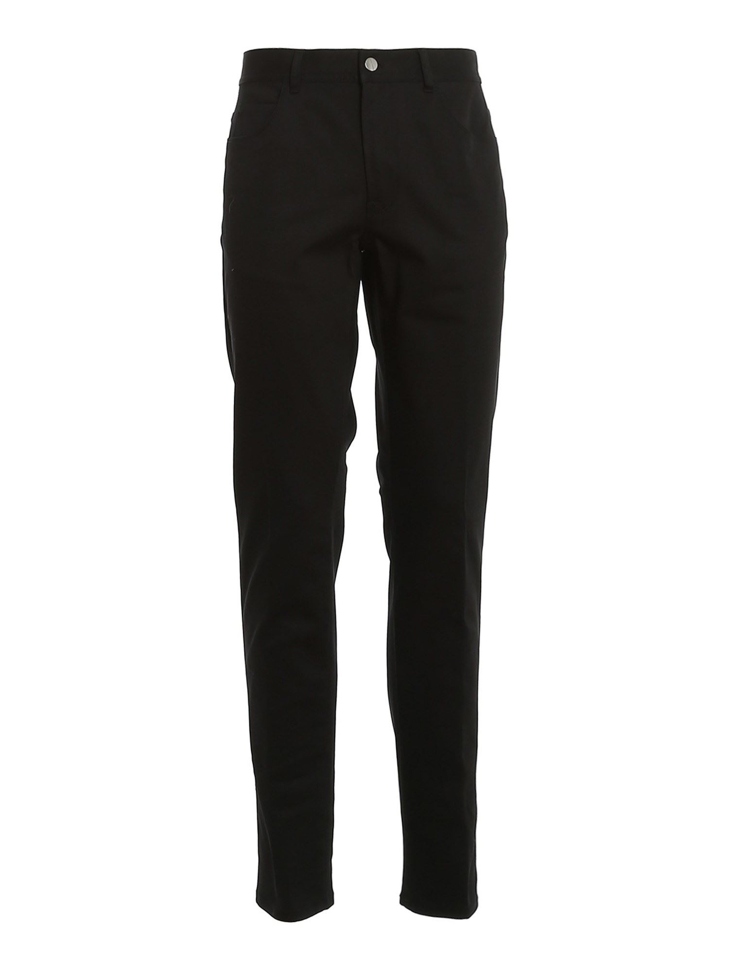 MONCLER GABARDINE PANTS IN BLACK