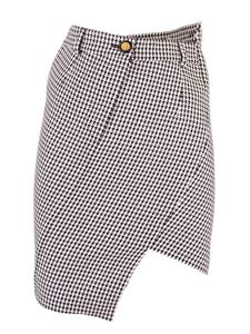 Balenciaga - Houndstooth patterned skirt black and white