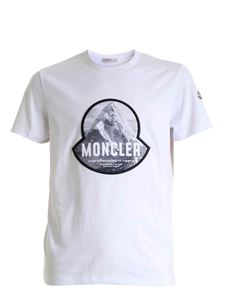 Moncler - Logo patch T-shirt in white