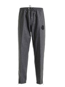 Moncler - Grey pants featuring zip on the bottom