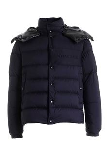 Moncler - Aubrac down jacket in dark blue with black hood