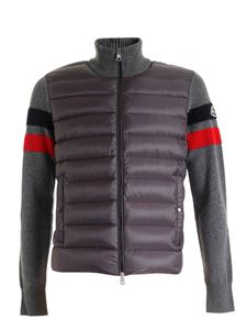 Moncler - Padded cardigan in grey