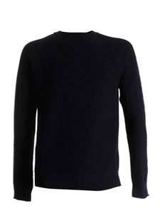 Moncler - Bands on the sleeves pullover in blue
