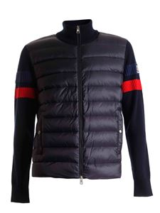 Moncler - Padded cardigan in dark blue
