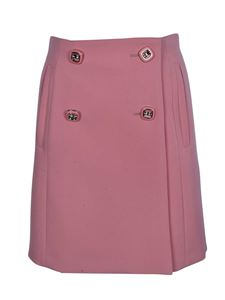 Prada - Buttoned skirt in pink